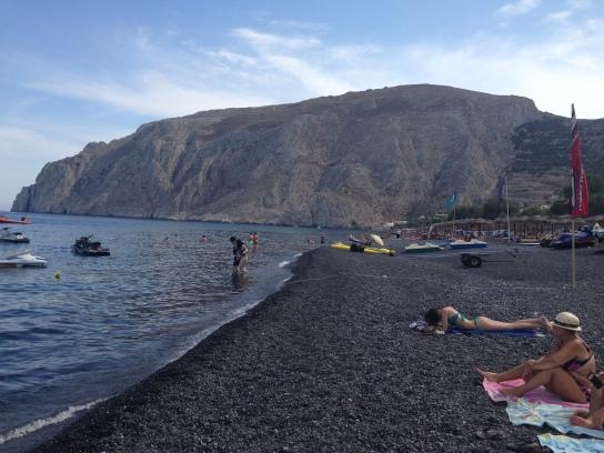 Kamari Black Sand Beach, Santorini