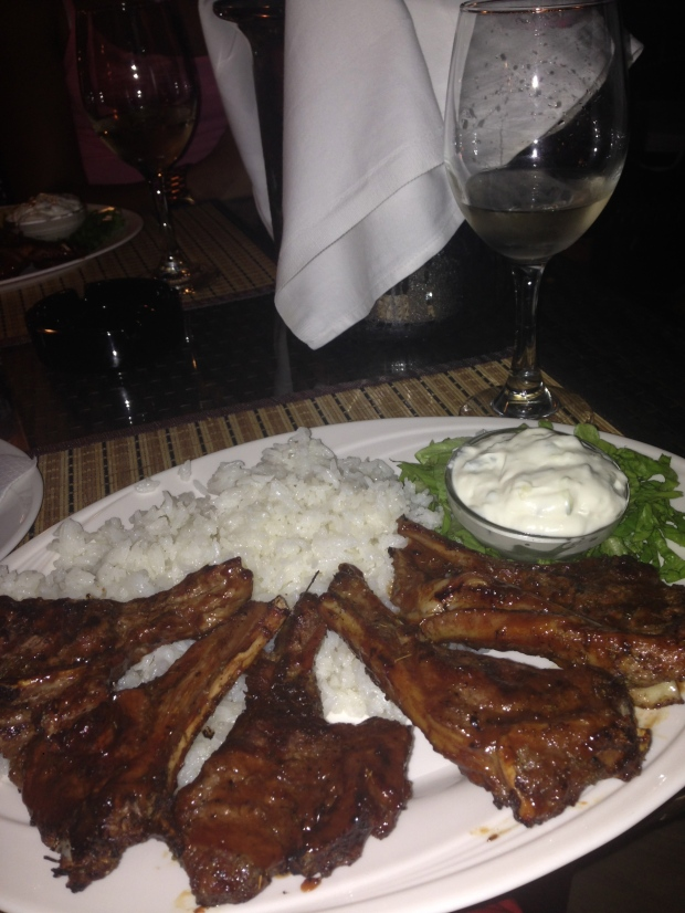 Traditional Lamb Chops Dinner