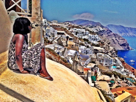 Taking it all in! Oia Santorini