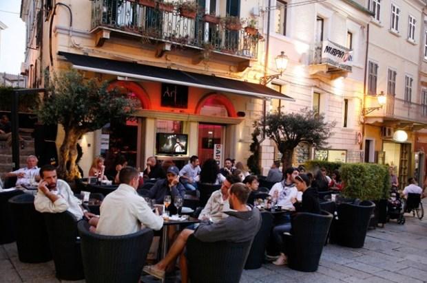 Cafe in the Pizza La Maddalena